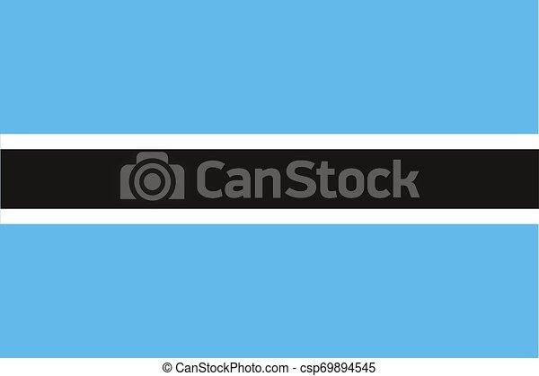 flag of botswana vector illustration EPS10 - csp69894545
