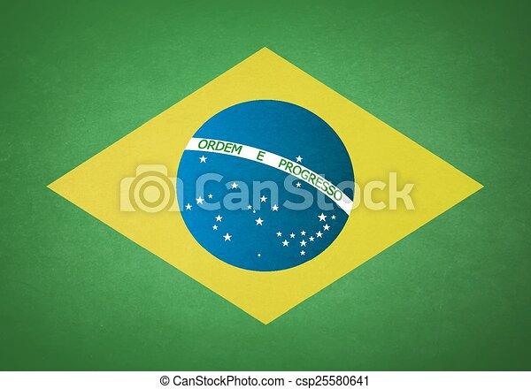 Flag of Brazil - csp25580641