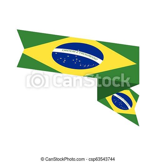 Flag of Brazil - csp63543744