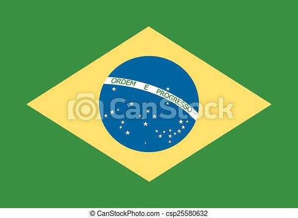 Flag of Brazil - csp25580632