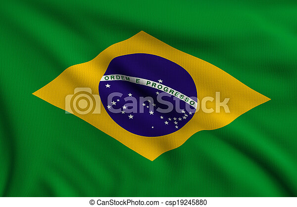 Flag of Brazil - csp19245880