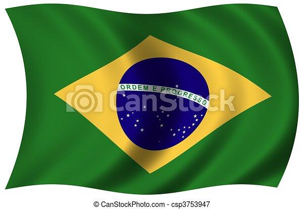 Flag of Brazil - csp3753947