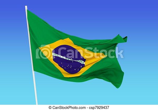 Flag of Brazil - csp7929437
