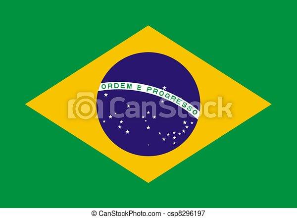 flag of Brazil - csp8296197