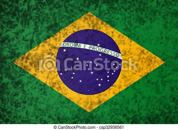 Flag of Brazil. - csp32936561