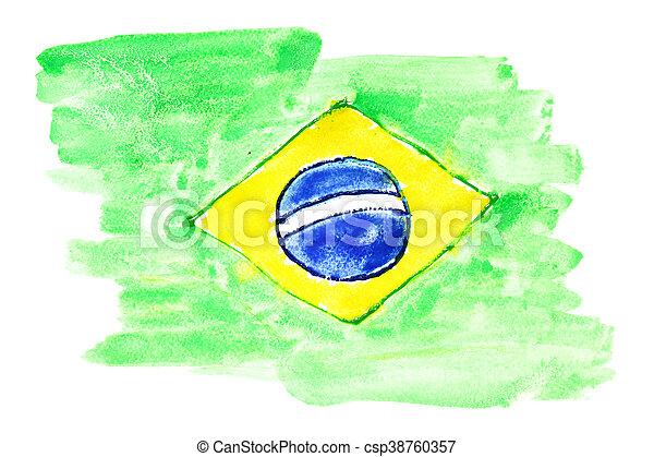 Flag of Brazil - csp38760357