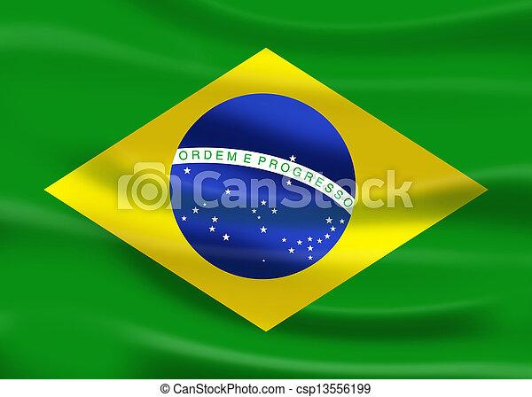 flag of brazil - csp13556199