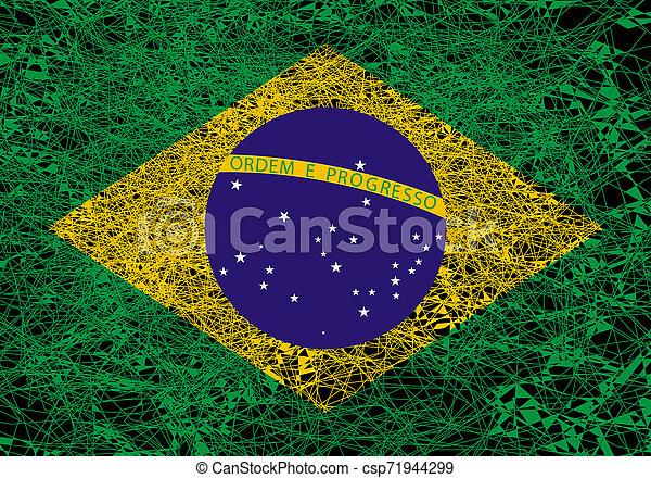Flag of Brazil. - csp71944299