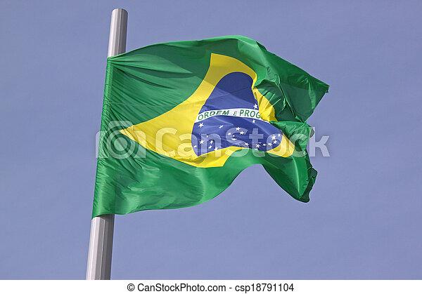 flag of Brazil - csp18791104