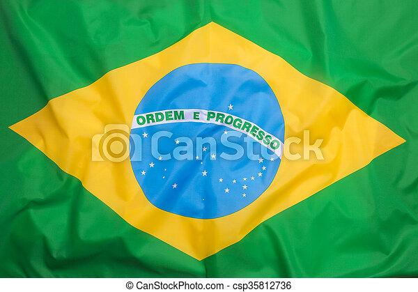 Flag of Brazil - csp35812736