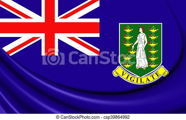 Flag of British Virgin Islands. 3D Illustration. - csp39864992