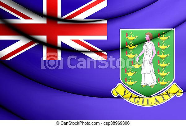 Flag of British Virgin Islands. 3D Illustration. - csp38969306