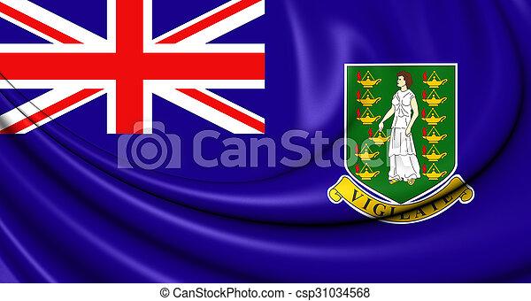 Flag of British Virgin Islands - csp31034568