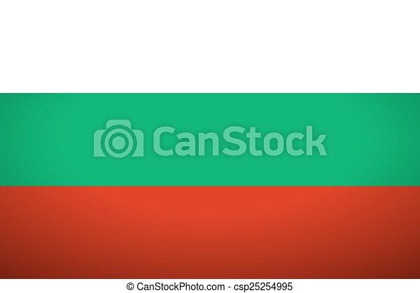 Flag of Bulgaria. - csp25254995