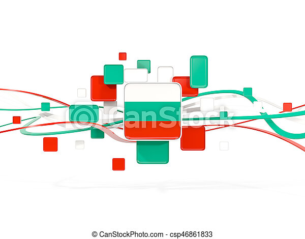 Flag of bulgaria, mosaic background with lines - csp46861833