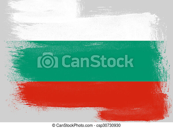 Flag of Bulgaria painted with brush - csp30730930