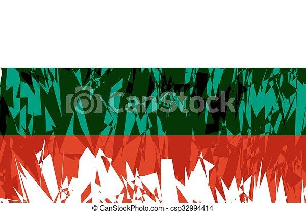 Flag of Bulgaria. - csp32994414