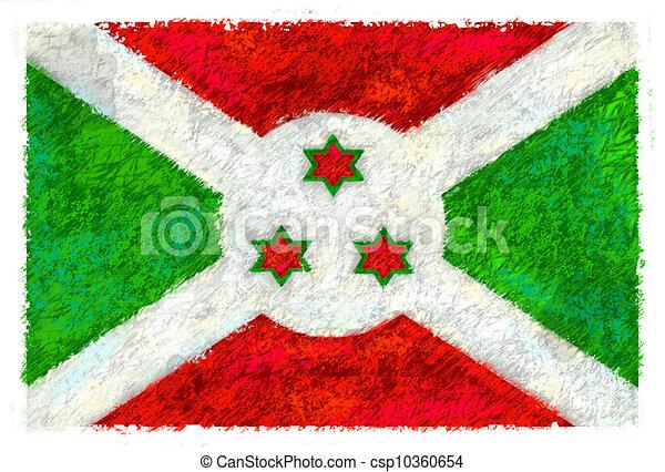Flag of Burundi - csp10360654