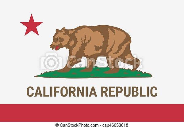 Flag Of California American State Vector Illustration