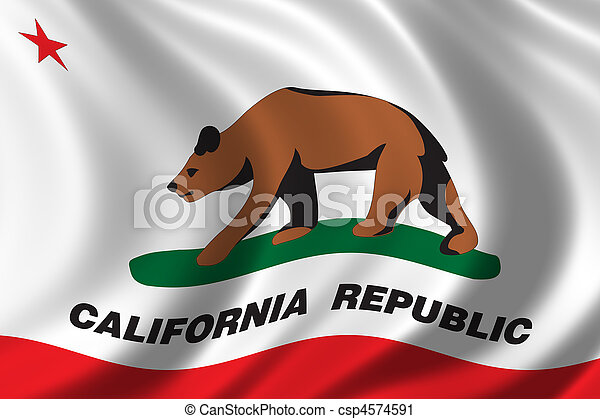 Flag of California - csp4574591