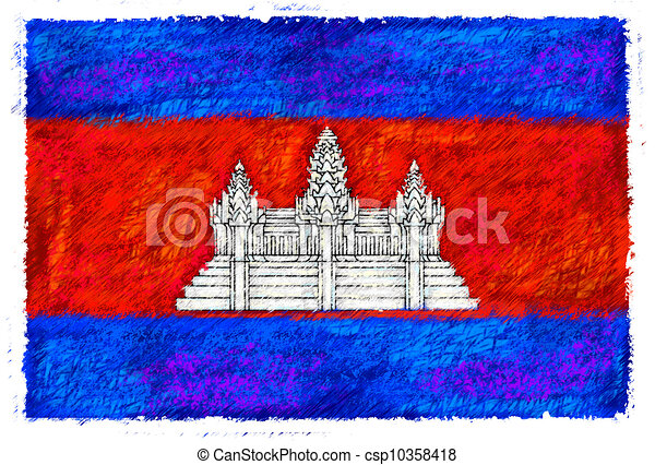 Flag of Cambodia - csp10358418
