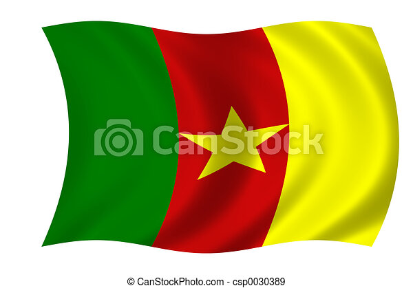 flag of cameroon - csp0030389