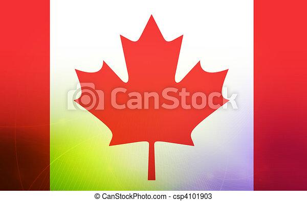 flag of canada  - csp4101903