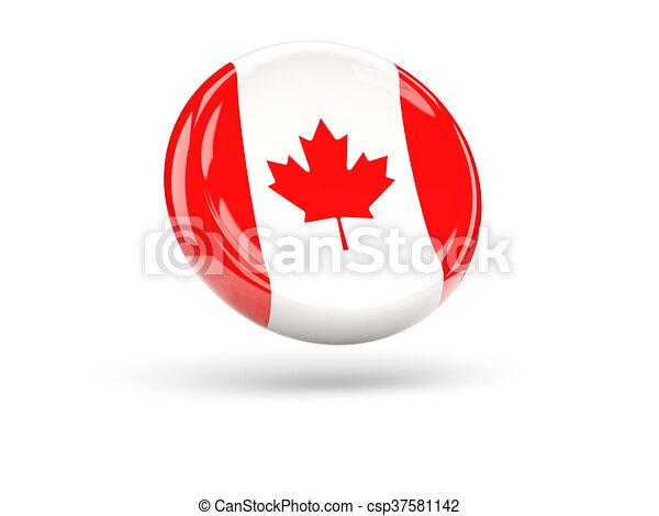 Flag of canada. Round icon - csp37581142