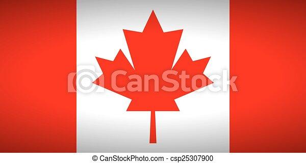 Flag of Canada. - csp25307900