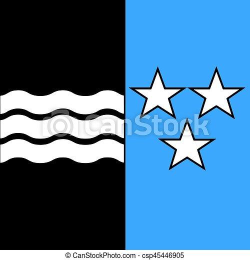 Flag of canton of aargau switzerland vector format vector clipart