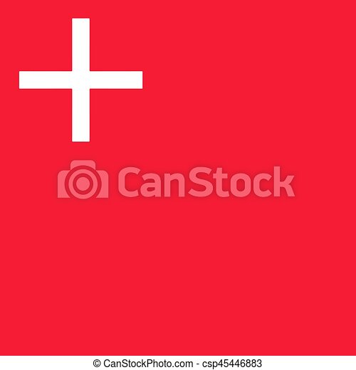 Flag of canton of schwyz switzerland vector format vector Search
