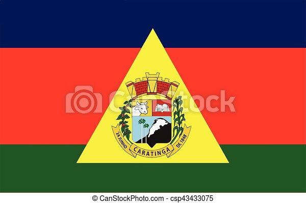 Flag of Caratinga, Brazil. Vector Format - csp43433075
