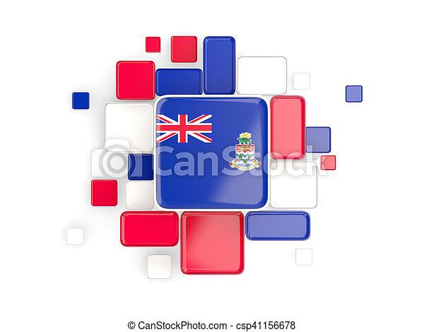 Flag of cayman islands, mosaic background - csp41156678