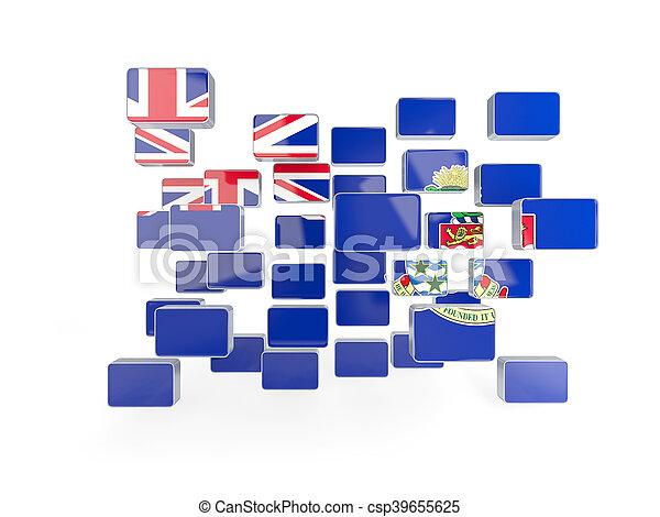 Flag of cayman islands, mosaic background - csp39655625