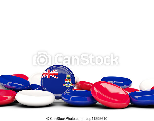 Flag of cayman islands, round buttons - csp41895610