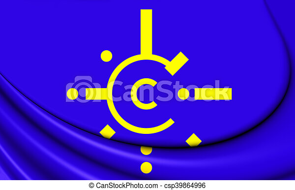 Flag Of Central European Free Trade Agreement 3d Illustration