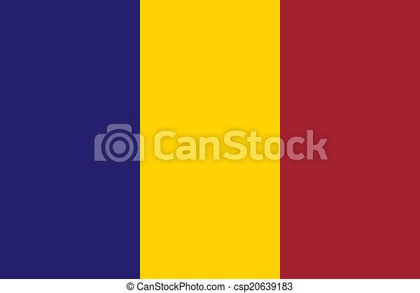 Flag of Chad - csp20639183