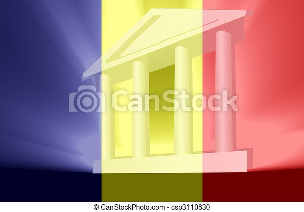 Flag of Chad government - csp3110830