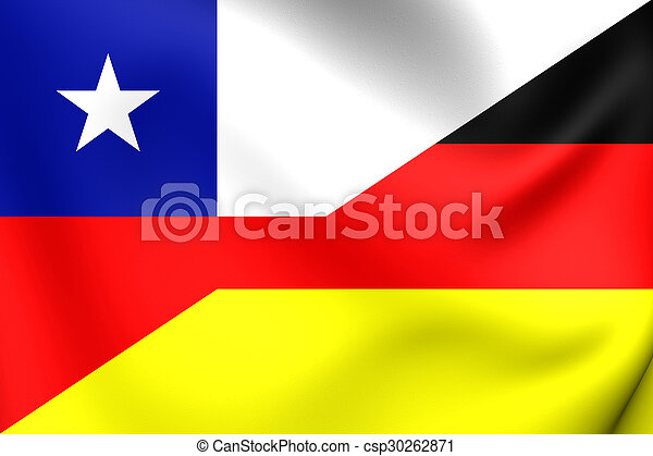 Flag of Chile and Germany - csp30262871