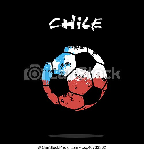 flag of chile as an abstract soccer ball abstract soccer clip