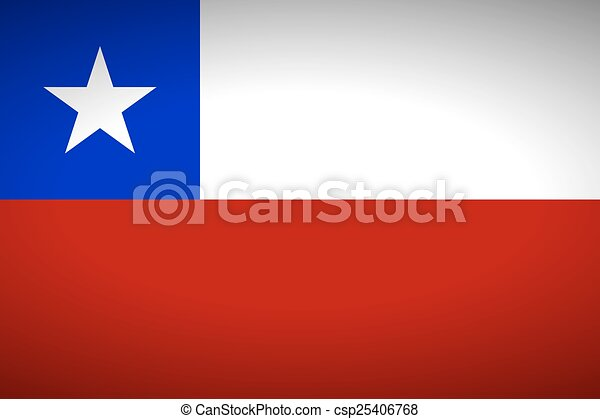 Flag of Chile - csp25406768