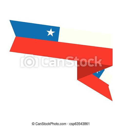 Flag of Chile - csp63543861