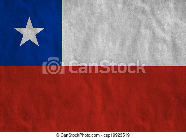 Flag of Chile - csp19923519