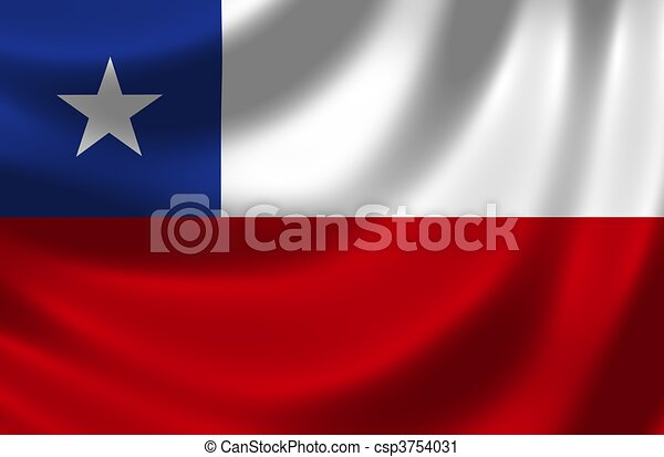 Flag of Chile - csp3754031