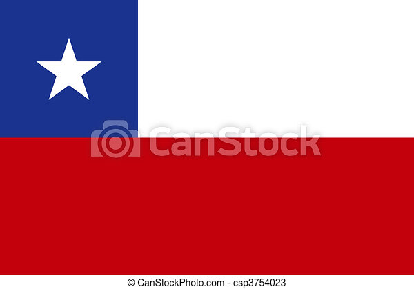 Flag of Chile - csp3754023