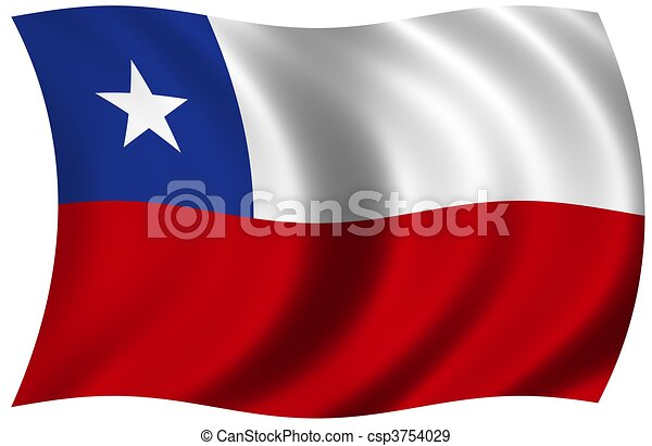 Flag of Chile - csp3754029