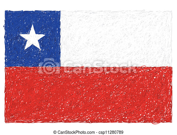 flag of chile - csp11280789