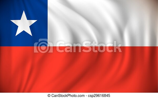 Flag of Chile - csp29616845