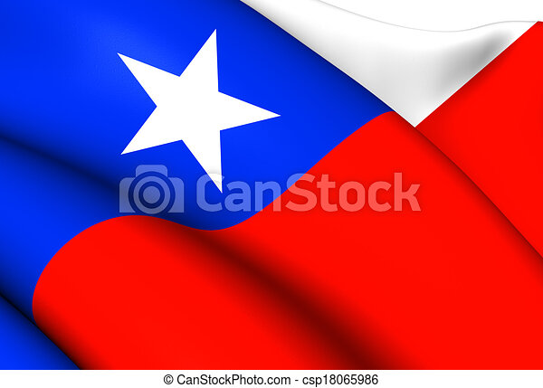 Flag of Chile - csp18065986