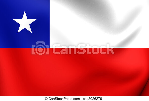 Flag of Chile - csp30262761